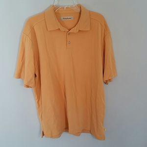 Tommy Bahama Polo shirt,L, orange